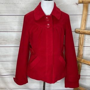Tulle Red Button Peacoat XS